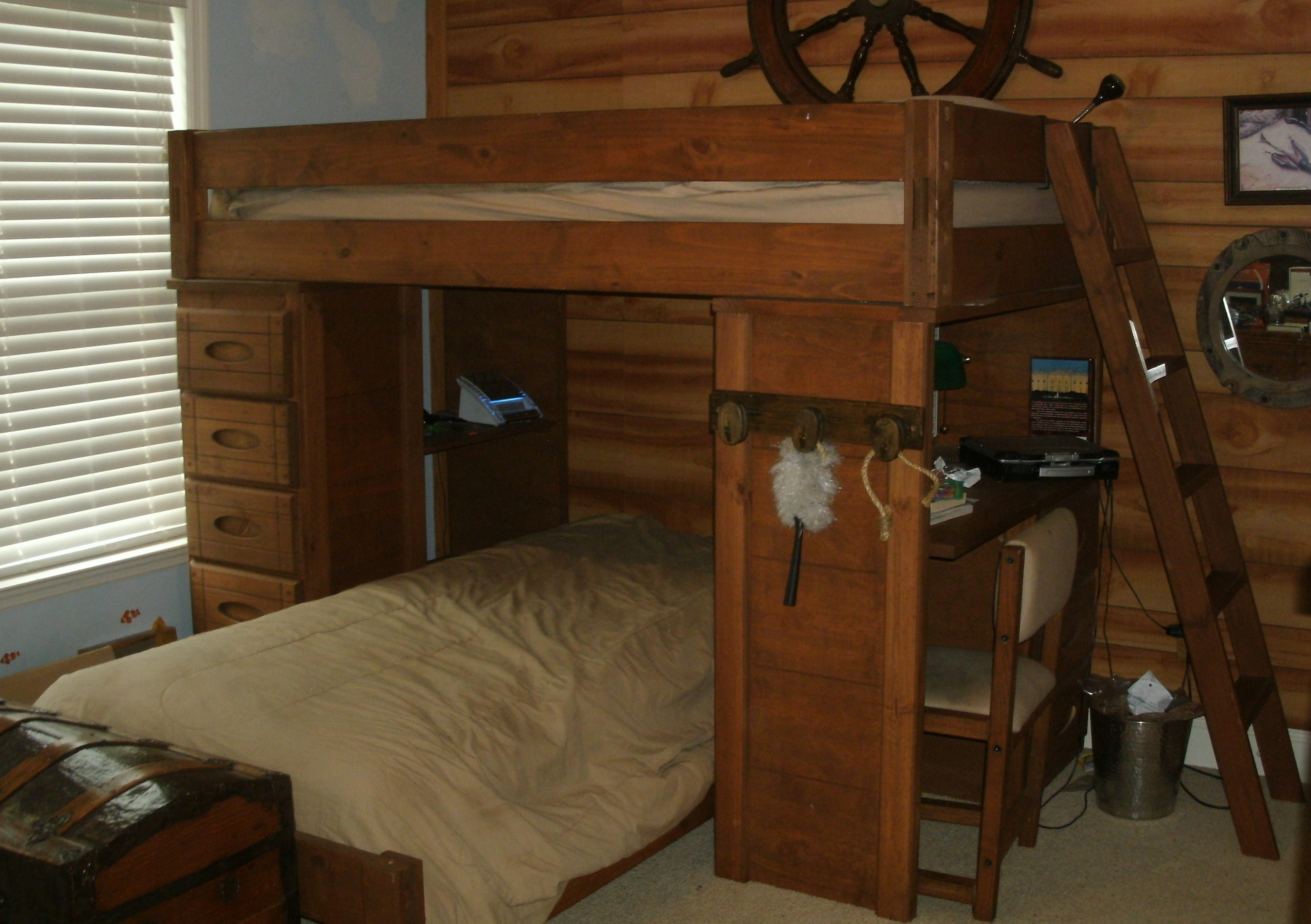 Wood Bunk Bed with Desk for Sale 3238 x 2282