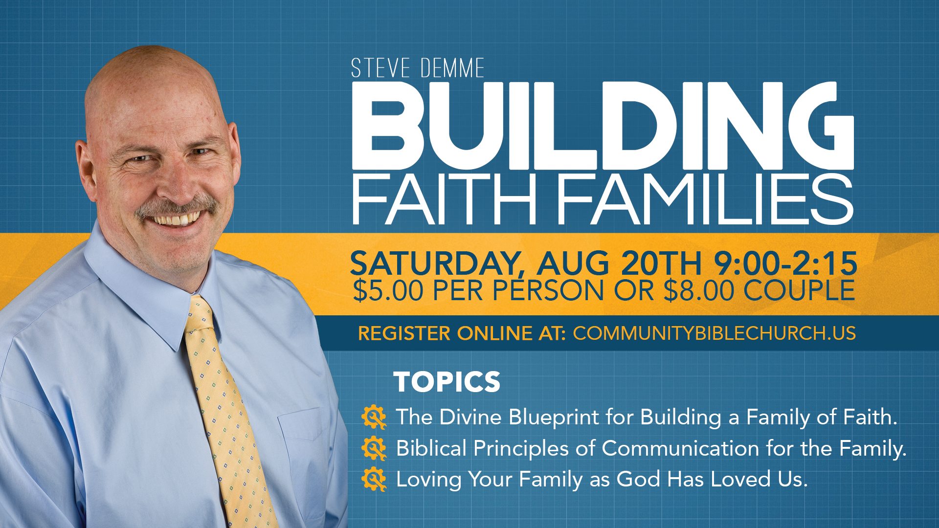 Register today community bible church christian academy you are invited to a family conference featuring the founder of math u see steve demme malvernweather Gallery