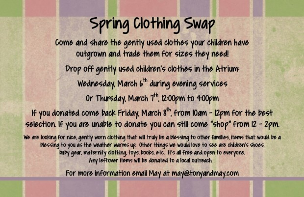 Spring 2019 Clothing swap