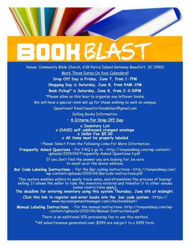 Book Blast 2019 ALL INFO